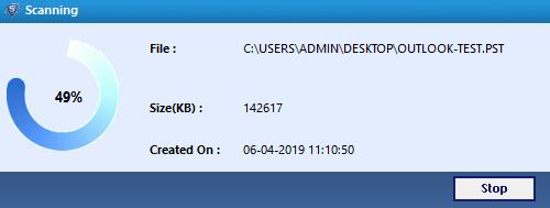 Scanning PST File